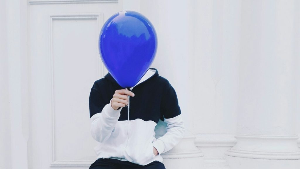 Balloon guy unknown like a new banking client up for KYC