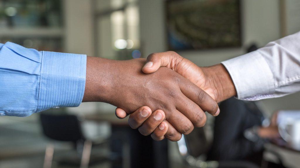 Handshake as with Torstone