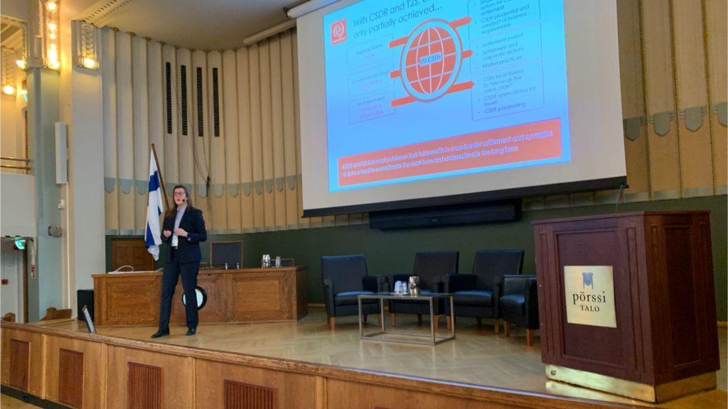 Hanna Vainio at PostTrade 360 Helsinki