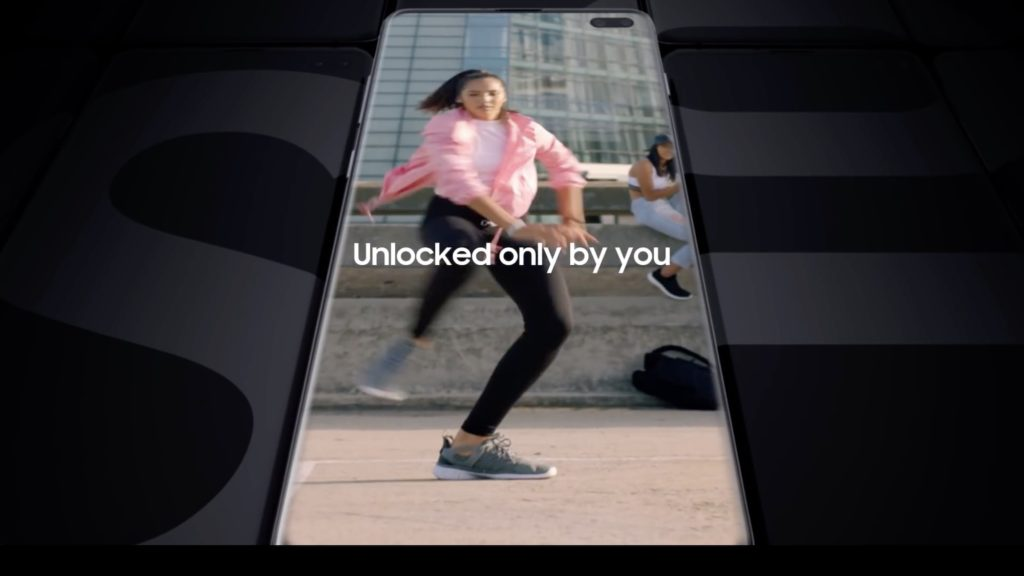 Samsung Galaxy S10 video screen dump