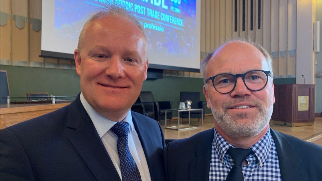 Skanning o Høj VP Securities at PostTrade 360 Helsinki