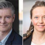 Anders Löfgren, Euroclear, och Linnea Wahlstedt, Wahlstedt Sageryd.