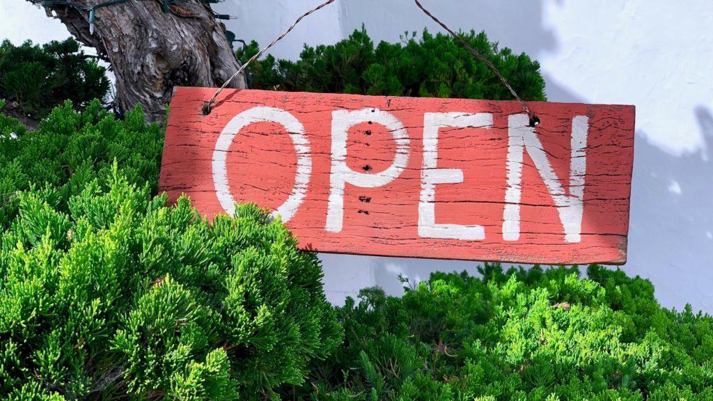 Open –like financial markets.