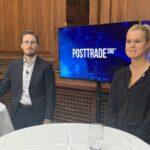 Frederik Stokholm and Line Samuel Vesth, at PostTrade 360° Copenhagen.