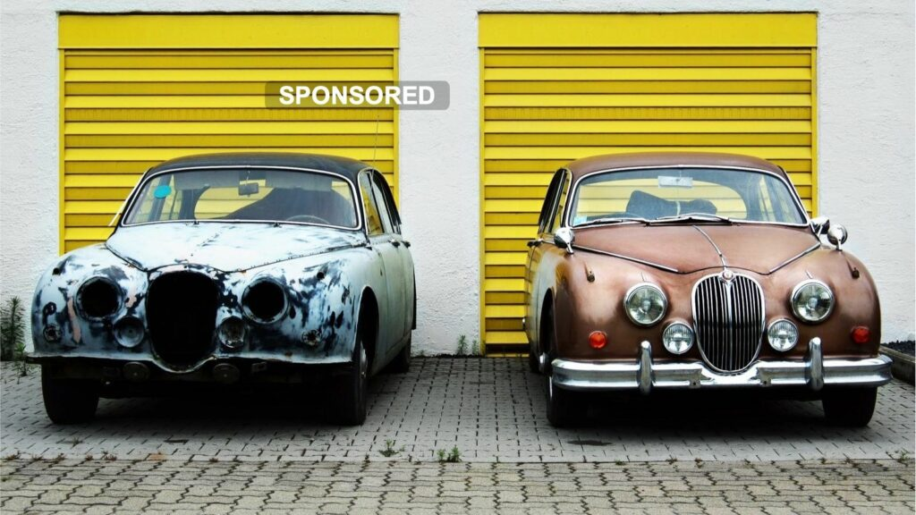 Cars, old and new.