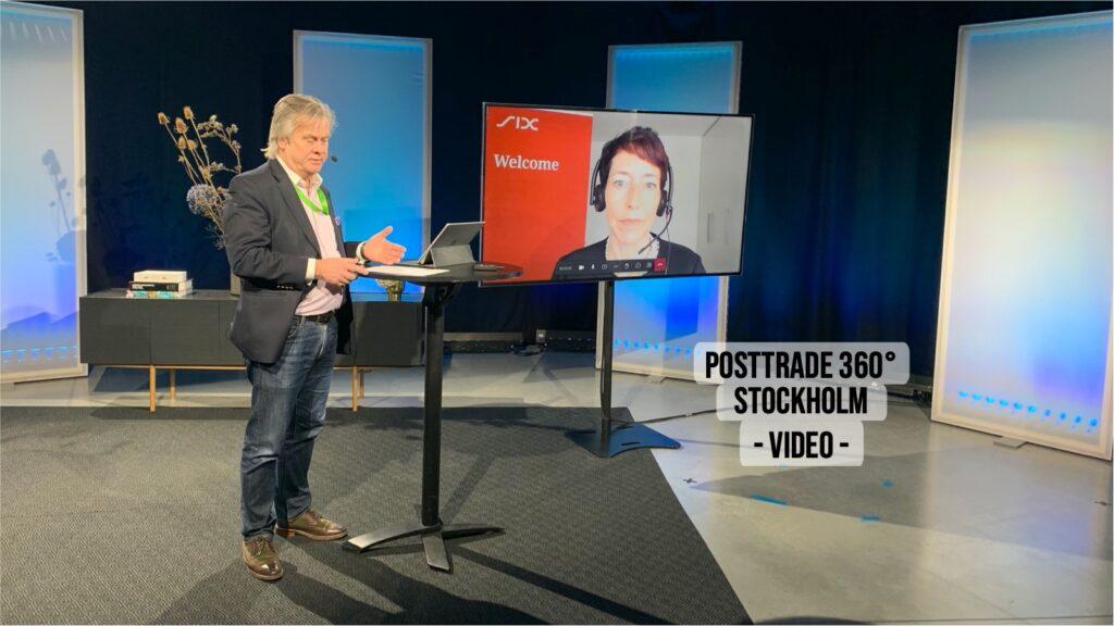 Janine Hofer-Wittwer, with PostTrade 360° Stockholm 2021.