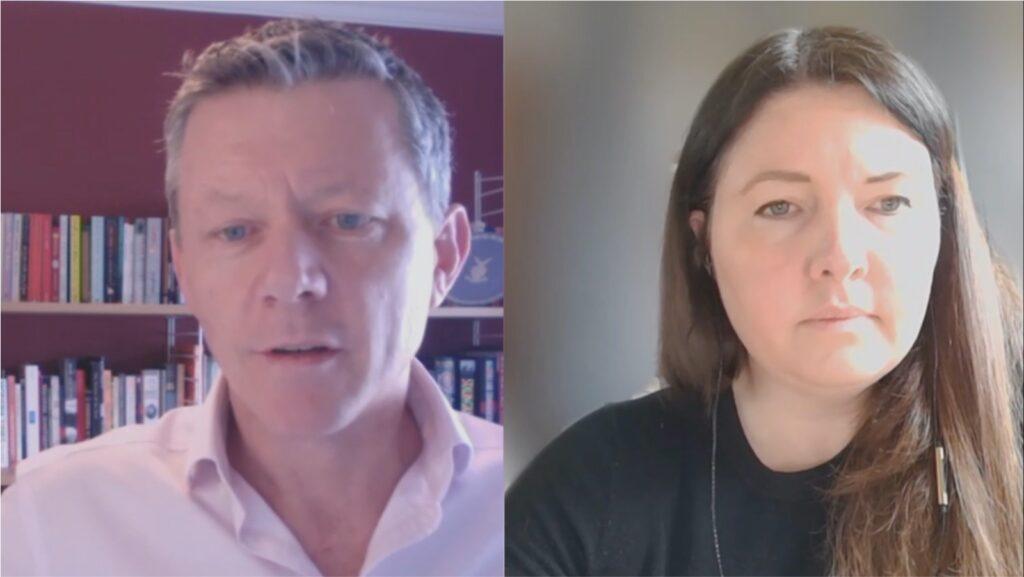 Scott Lucas and Olivia Vinden at PostTrade 360° Stockholm 2021.