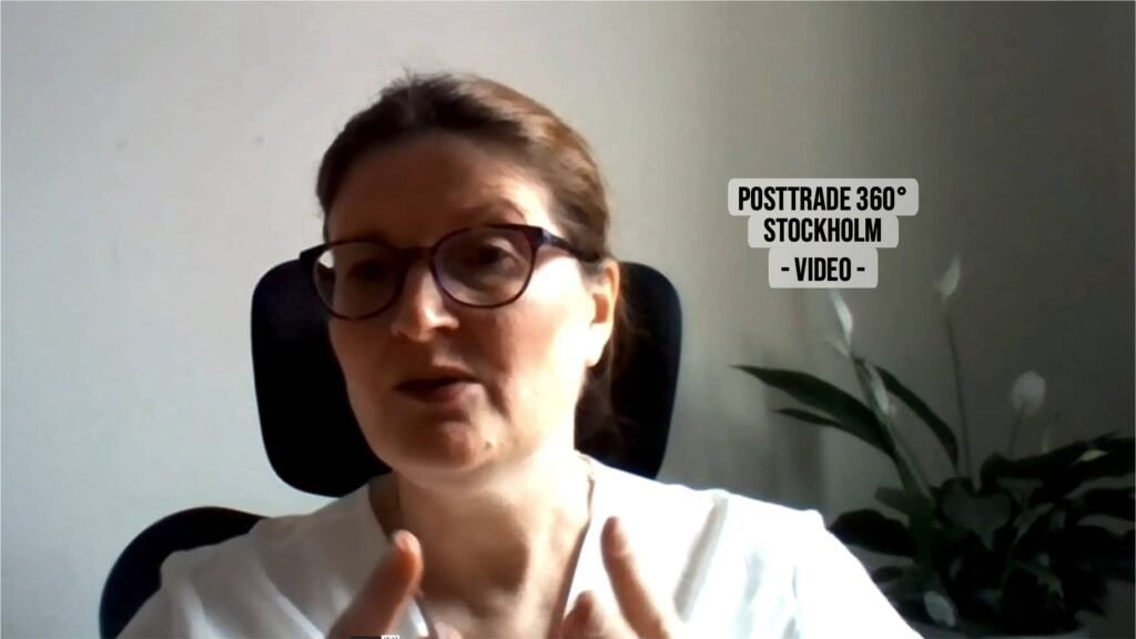 Martha Fee, COO of Northern Trust Asset Management, with PostTrade 360° Stockholm 2021.