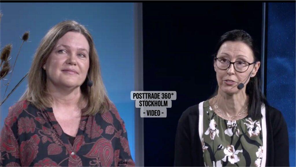 Buresten and Öhrn, at PostTrade 360° Stockholm 2021.