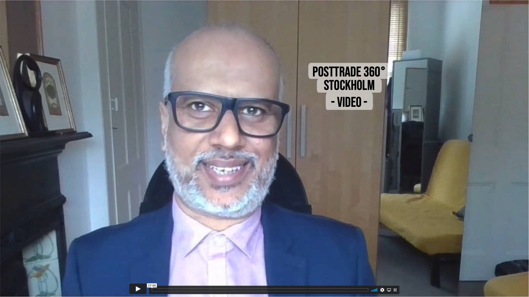 Amrik Thethi of Torstone, with PostTrade 360° Stockholm 2021.