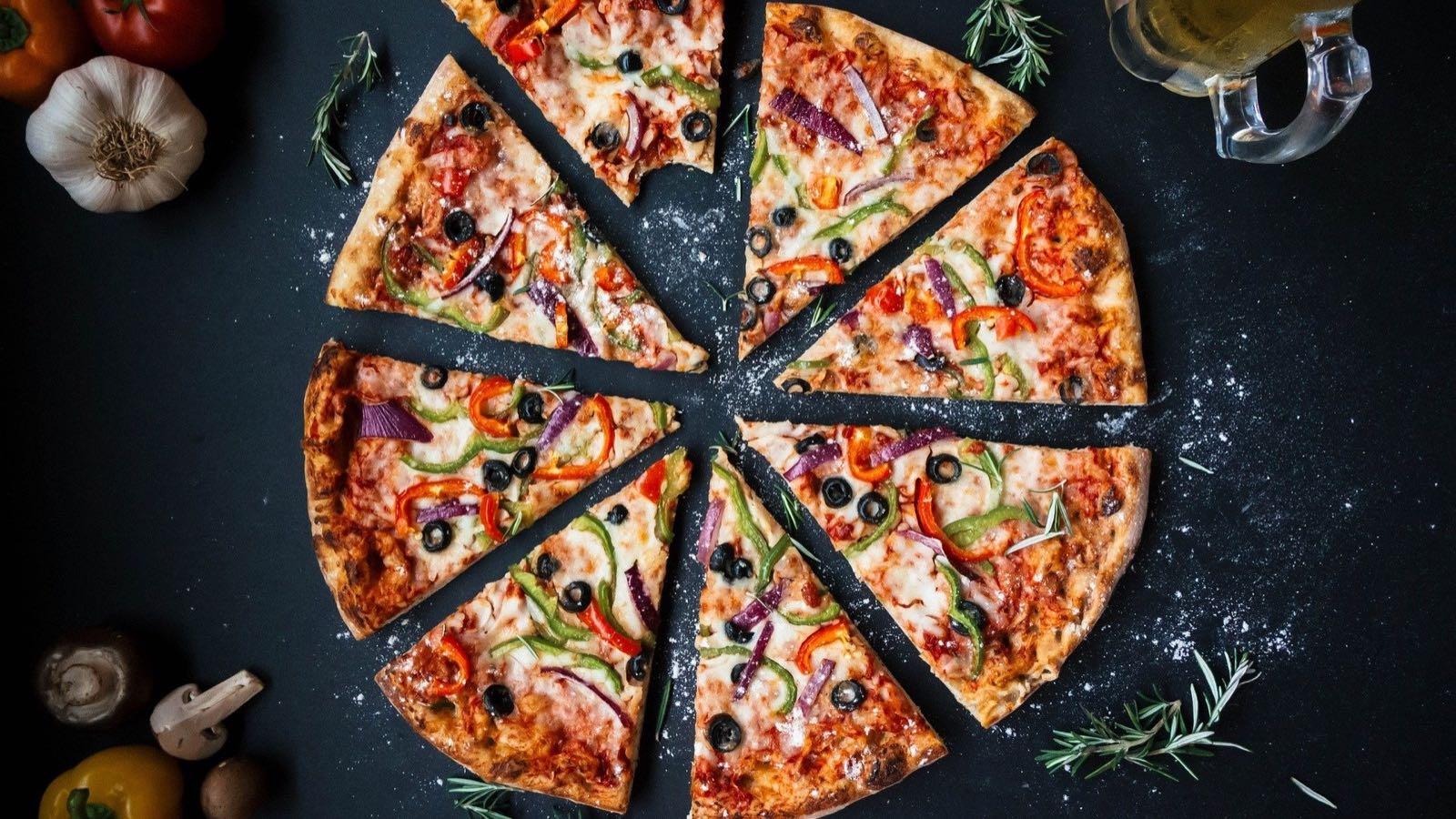 Pizza as in sliced stocks
